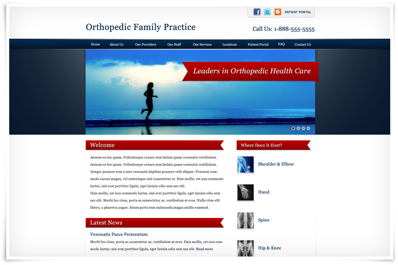 Orthopedic Practice Template